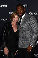 CULVER CITY, CA - MARCH 7: Linda Purl and 50 Cent pictured at Crackle's The Oath Premiere at Sony Pictures Studios in Culver City, California on March 7, 2018. <br /> CAP/MPI/DE<br /> &copy;DE/MPI/Capital Pictures