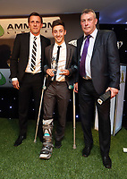 Thursday 16 May 2013<br /> Pictured L-R: Tony Penock with youth player Josh Sheehan.<br /> Re: Swansea City FC footballer of the year awards dinner at the Liberty Stadium.