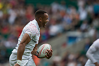 Twickenham, United Kingdom. 2nd June 2018, HSBC London Sevens Series.Dan NORTON, run's in for a try during,  Game 8, Pool C. game, England vs France, played at the  RFU Stadium, Twickenham, England, <br /> <br /> <br /> <br /> &copy; Peter SPURRIER/Alamy Live News