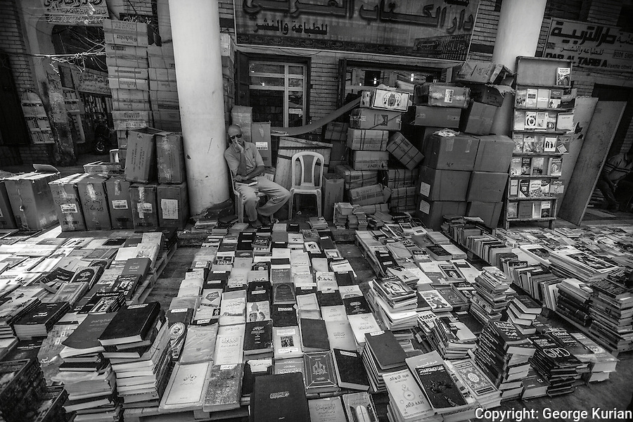 Al Mutanabbi St is also called the Booksellers Street. The centre of old Baghdad which was historically a place for intellectuals, writers and artists to gather and meet.