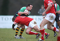 Neil Brittain action during the charity match between the Ulster 1999 XV and a Wooden Spoon Select XV at Shaw's Bridge Belfast.  Mandatory Credit - Photo : John Dickson