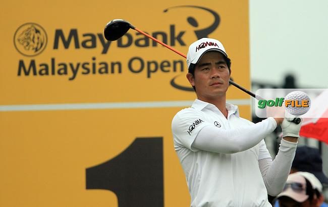 Liang Wen-chong on the 1st on Day 3 of the Maybank Malaysian Open 2012 at Kuala Lumpur Golf and Country Club, Kuala Lumpur, Malaysia...(Photo Jenny Matthews/www.golffile.ie)