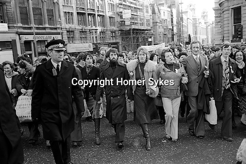Peace Movement. Peace People. Peace March through London 1976.