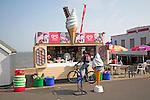Ice cream stall by the beach, Felixstowe, Suffolk, England