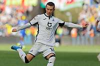 Bersant Celina of Swansea City in action during the Sky Bet Championship match between Swansea City and Cardiff City at the Liberty Stadium, Swansea, Wales, UK. Sunday 27 October 2019