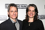 Pam MacKinnon & Bruce Norris.attending the Broadway Opening Night Performance After Party for 'Clybourne Park' at Gotham Hall in New York City on 4/19/2012