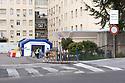 29 marzo 2020, Sassari, viale Italia. Ospedale Santissima Annunziata. L'ingresso del Pronto Soccorso.