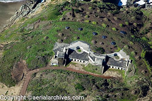 aerial photograph bunkers Presidio of San Francisco