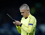 Fourth official plays with his wand during the Europa League Group E match at Goodison Park Stadium, Liverpool. Picture date: September 28th 2017. Picture credit should read: Simon Bellis/Sportimage