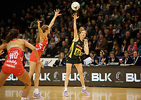 03.09.2017 South Africa's Karla Mostert in action during the Quad Series netball match between England and South Africa at the ILT Stadium Southland in Invercargill. Mandatory Photo Credit ©Michael Bradley.