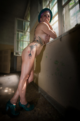 Anja first tattoo shoot for callander