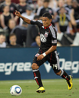 Andy Najar #14 of D.C. United scored during an MLS match against the Los Angeles Galaxy at RFK Stadium on July 18 2010, in Washington D.C. Galaxy won 2-1.