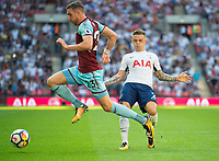 Burnley Stephen Ward and Tottenham's Kieran Trippier during the Premier League match between Tottenham Hotspur and Burnley at White Hart Lane, London, England on 27 August 2017. Photo by Andrew Aleksiejczuk / PRiME Media Images.