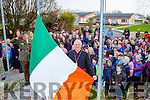 Bishop Ray Browne raised the tricolour in Scoil Mhuire agus Naomh Treasa Currow on Tuesday