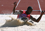 GUADALAJARA, MEXICO - OCTOBER 24:  Carl Morgan of Cayman Islands competes in the Men's Long Jump during the Athletics Competition on Day Nine of the XVI Pan American Games on October 24, 2011 in Guadalajara, Mexico.  (Photo by Donald Miralle for Mexsport) *** Local Caption ***