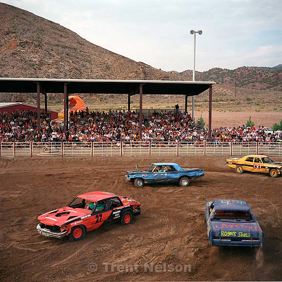 Panoramic sequence. Demolition Derby. Beaver County Fair.<br />