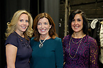 Hempstead, New York, USA. January 1, 2018. L-R, LHempstead Town Supervisor AURA GILLEN; Hempstead Town Clerk SYLVIA CABANA and New York State Lt. Governor KATHY HOCHUL pose for photo shortly before Lt. Gov. swears-in Gillen, at Hofstra University.