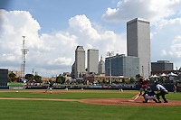General view of a Tulsa Drillers game against the Frisco Rough Riders on May 29, 2014 at ONEOK Field in Tulsa, Oklahoma.  Frisco defeated Tulsa 13-4.  (Mike Janes/Four Seam Images)