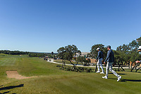 Julian Suri (USA) and Harris English (USA) make their way down 10 during Round 4 of the Valero Texas Open, AT&amp;T Oaks Course, TPC San Antonio, San Antonio, Texas, USA. 4/22/2018.<br /> Picture: Golffile | Ken Murray<br /> <br /> <br /> All photo usage must carry mandatory copyright credit (&copy; Golffile | Ken Murray)