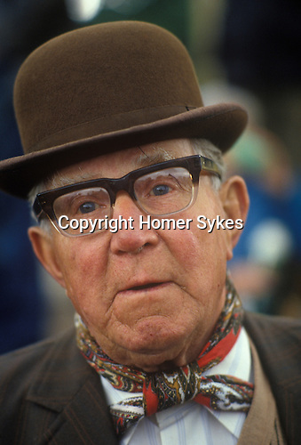 Senior man at the Appleby Grysy fair.