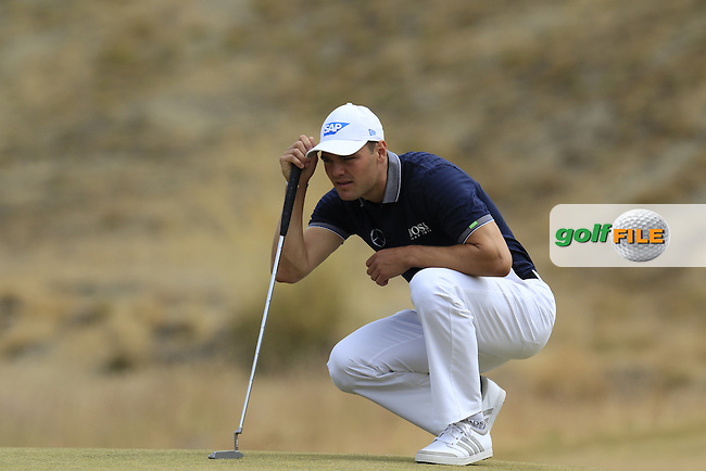Martin Kaymer (GER) lines up his putt on the 17th green during Thursday's Round 1 of the 2015 U.S. Open 115th National Championship held at Chambers Bay, Seattle, Washington, USA. 6/18/2015.<br /> Picture: Golffile | Eoin Clarke<br /> <br /> <br /> <br /> <br /> All photo usage must carry mandatory copyright credit (&copy; Golffile | Eoin Clarke)