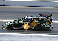Jun 19, 2016; Bristol, TN, USA; NHRA funny car driver Alexis DeJoria during the Thunder Valley Nationals at Bristol Dragway. Mandatory Credit: Mark J. Rebilas-USA TODAY Sports