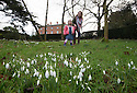28/01/16 <br /> <br /> Enjoying a brief break in the stormy weather, Anouk Taylor (3) and her mother Julia Taylor explore the  snowdrops blooming in the gardens of Rode Hall, Scholar Green, Cheshire. The gardens open for snowdrop walks from Saturday.<br /> <br /> All Rights Reserved: F Stop Press Ltd. +44(0)1335 418365   +44 (0)7765 242650 www.fstoppress.com