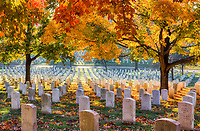Arlington National Cemetery in the Fall