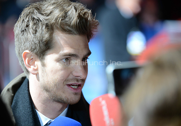 Andrew Garfield attending the &quot;Amazing Spider-Man 2&quot; Premiere at the CineStar IMAX, Sony Center, Potsdamer Platz, Berlin, Germany, 15.4.2014. <br /> Photo by Janne Tervonen/insight media /MediaPunch ***FOR USA ONLY***