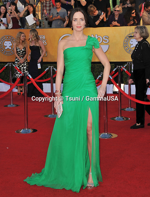 Emily Blunt  at the 18th Ann. SAG Awards 2012 at The Shrine Auditorium in Los Angeles.
