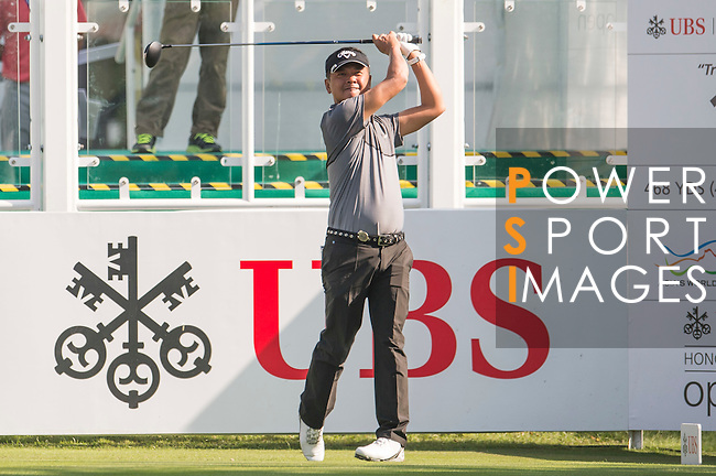 Lin Wen-tang of Taiwan tees off the first hole during the 58th UBS Hong Kong Open as part of the European Tour on 08 December 2016, at the Hong Kong Golf Club, Fanling, Hong Kong, China. Photo by Marcio Rodrigo Machado / Power Sport Images