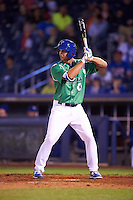 Tulsa Drillers pinch hitter Chase De Jong (34) at bat during a game against the Arkansas Travelers on April 28, 2016 at ONEOK Field in Tulsa, Oklahoma.  Tulsa defeated Arkansas 5-4.  (Mike Janes/Four Seam Images)