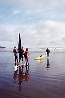 Pacific Rim National Park Reserve, Vancouver Island, BC, British Columbia, Canada - Ocean Kayaking at Long Beach near Tofino, Summer