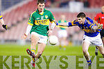 Shane O'Carrol gets one past Donagh Leahy of Tipperary in the Cadbury Munster U21 Football Championship last Wednesday night in Semple Stadium, Thurles.