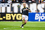 Solna 2014-07-12 Fotboll Allsvenskan AIK - Kalmar FF :  <br /> AIK:s Alexander Milosevic i aktion <br /> (Foto: Kenta J&ouml;nsson) Nyckelord:  AIK Gnaget Friends Arena Kalmar KFF portr&auml;tt portrait