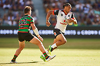 Leivaha Pulu of the NZ Warriors, Rabbitohs v Vodafone Warriors, NRL rugby league premiership. Optus Stadium, Perth, Western Australia. 10 March 2018. Copyright Image: Daniel Carson / www.photosport.nz