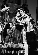 April 1968, Manhattan, New York City, New York State, USA. Opera singers Grace Bumbry and Richard Tucker star in Jean-Louis Barrault's Carmen Noire at the Metropolitan Opera House. Image by © JP Laffont