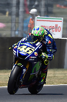 SCARPERIA,FLORENCE, ITALY - JUNE 03:,2017 Valentino Rossi of Italy and Movistar Yamaha MotoGP in action during Qualifying MotoGP Gran Premio d'Italia- at Mugello Circuit. on june 03, 2017 in Scarperia Italy.<br /> Photo Marco Iorio/Insidefoto