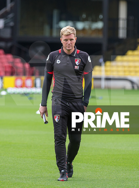 Bournemouth Manager Eddie Howe during the Premier League match between Watford and Bournemouth at Vicarage Road, Watford, England on 1 October 2016. Photo by Andy Rowland.