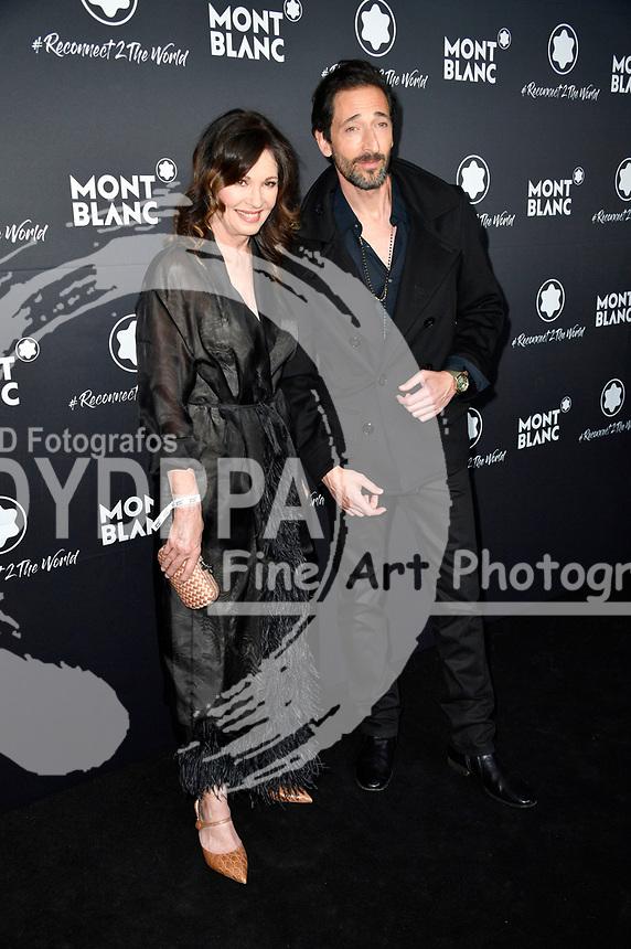 Iris Berben und Adrien Brody beim Montblanc Travel & the Arts Events vor dem Gallery Weekend im Metropoltheater. Berlin, 24.04.2019