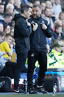 Billy Reid, assistant manager for Swansea complains to the fourth official during the Sky Bet Championship match between Sheffield Wednesday and Swansea City at Hillsborough Stadium, Sheffield, England, UK. Saturday 23 February 2019