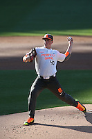 Jason Groome (40) of the East team pitches during the 2015 Perfect Game All-American Classic at Petco Park on August 16, 2015 in San Diego, California. The East squad defeated the West, 3-1. (Larry Goren/Four Seam Images)