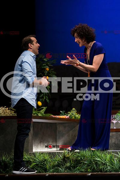 "Luis Merlo and Maru Valdivieso during the theater play ""El Test"" at Teatro Cofidis in Madrid. September 15, Spain. 2016. (ALTERPHOTOS/BorjaB.Hojas) /NORTEPHOTO"