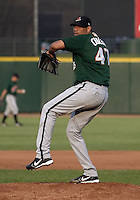 September 5, 2004:  Francisco Cruceta of the Buffalo Bisons, International League (AAA) affiliate of the Cleveland Indians, during a game at Frontier Field in Rochester, NY.  Photo by:  Mike Janes/Four Seam Images