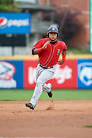 New Hampshire Fisher Cats right fielder Harold Ramirez (23) runs the bases during a game against the Erie SeaWolves on June 20, 2018 at UPMC Park in Erie, Pennsylvania.  New Hampshire defeated Erie 10-9.  (Mike Janes/Four Seam Images)