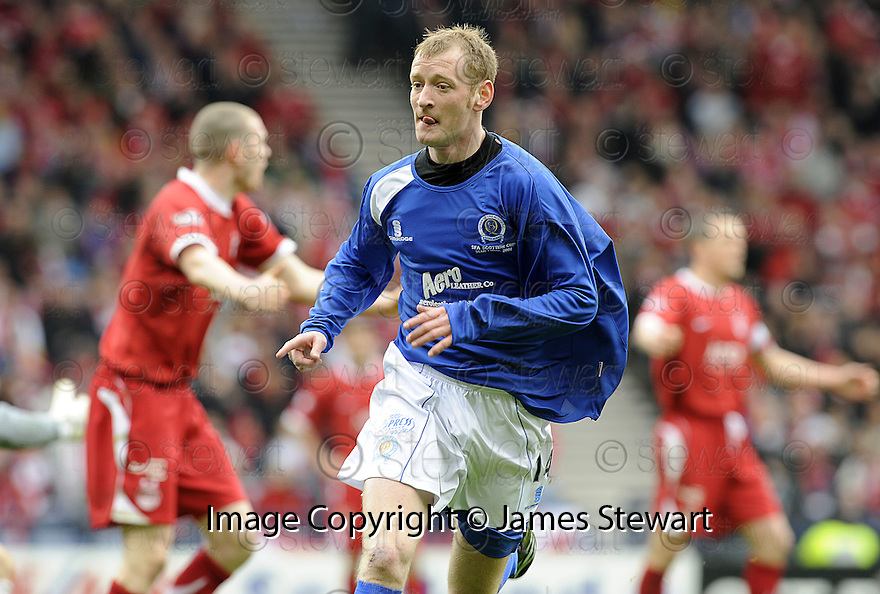 12/04/2008    Copyright Pic: James Stewart.File Name : sct_jspa22_qots_v_aberdeen.JOHN STEWART CELEBRATES AFTER HE SCORES THE FOURTH FOR QUEEN OF THE SOUTH....James Stewart Photo Agency 19 Carronlea Drive, Falkirk. FK2 8DN      Vat Reg No. 607 6932 25.Studio      : +44 (0)1324 611191 .Mobile      : +44 (0)7721 416997.E-mail  :  jim@jspa.co.uk.If you require further information then contact Jim Stewart on any of the numbers above........