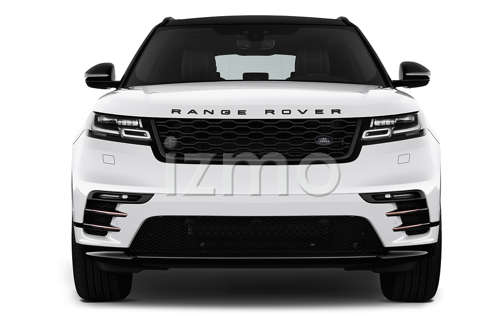 Car photography straight front view of a 2019 Land Rover Range Rover Velar Dynamic SE 5 Door SUV