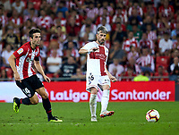 (16) Luis Carlos, Luisinho, (14) Markel Susaeta during the Spanish La Liga soccer match between Athletic Club Bilbao and S.D Huesca at San Mames stadium, in Bilbao, northern Spain, Monday, August, 27, 2018 (Photo: Ion Alcoba Beitia)
