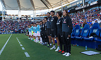 Carson, CA - Thursday August 03, 2017: Japan during a 2017 Tournament of Nations match between the women's national teams of the United States (USA) and Japan (JAP) at StubHub Center.