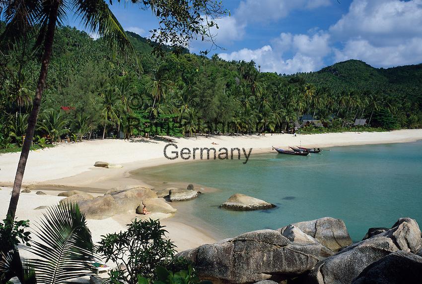 Thailand, island Ko Pha Ngan, Thong Nai Pan Noi bay and beach